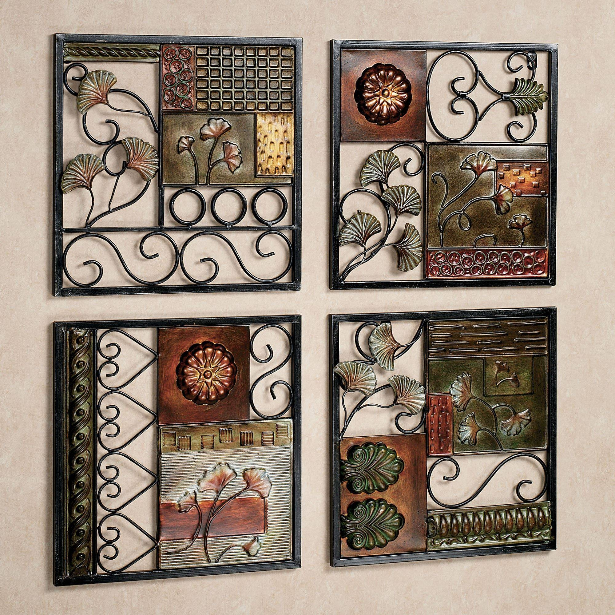 Dusk And Dawn Metal Wall Art Set Pertaining To Most Recent Small Metal Wall Art Decor (View 14 of 20)