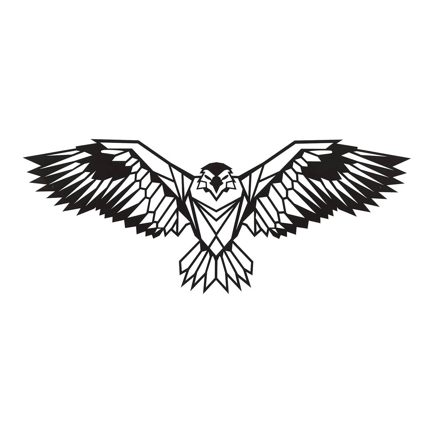Eagle Metal Wall Art, Black | Achica Throughout Latest Eagle Metal Wall Art (View 14 of 20)