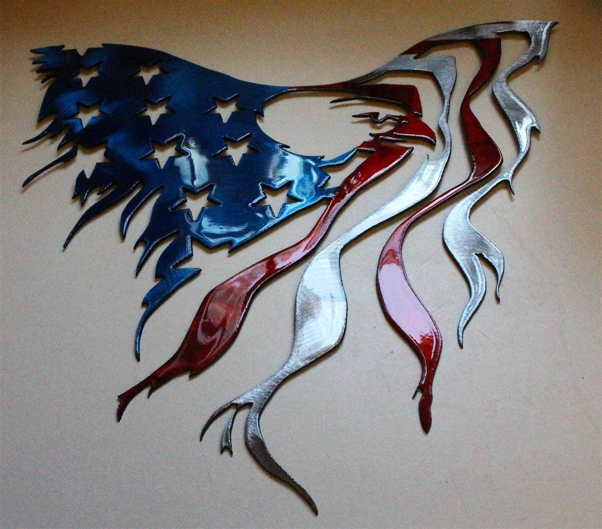 Eagleflagrwb 2 Intended For Newest Eagle Metal Wall Art (View 4 of 20)