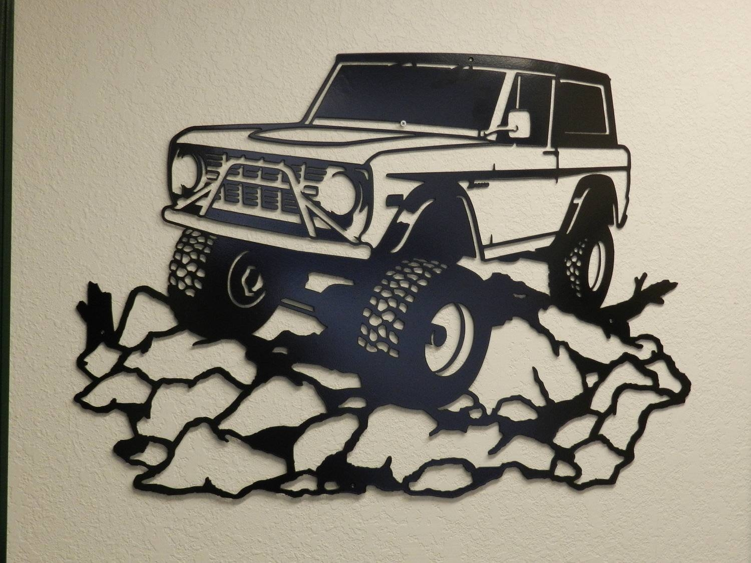 Early Ford Bronco Metal Wall Art With 2018 Ford Mustang Metal Wall Art (View 4 of 20)