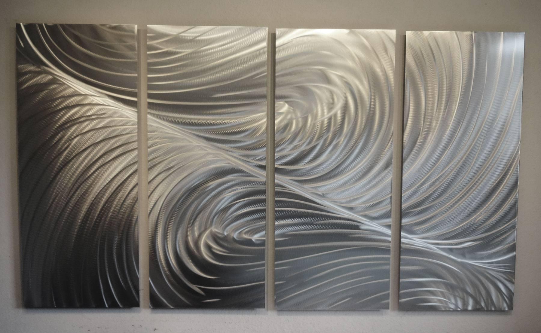 """Echo 36"""" Tall  Metal Wall Art Abstract Contemporary Modern Decor Regarding Recent Tall Metal Wall Art (View 7 of 20)"""