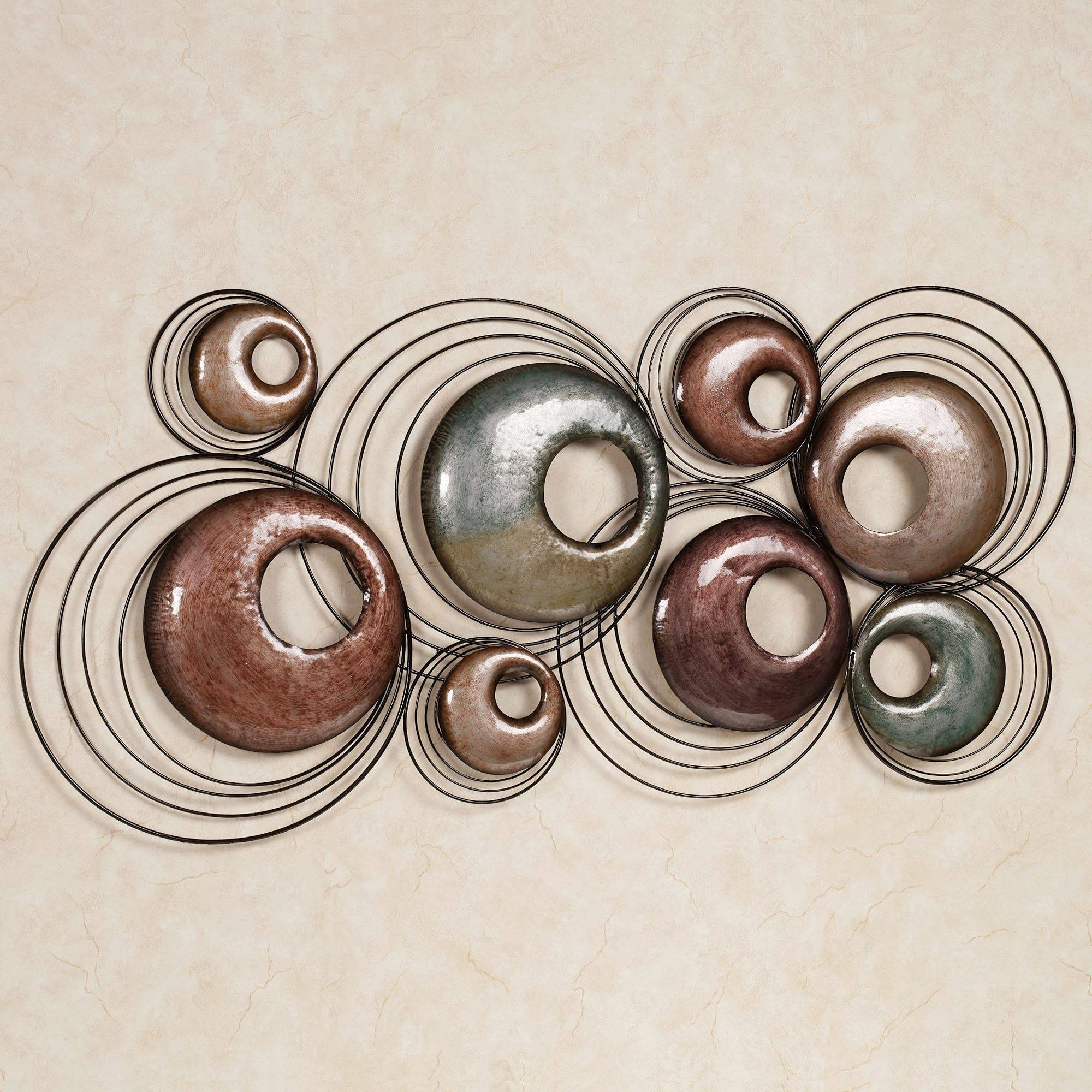 Echo Metal Wall Sculpture Art With Most Popular Round Metal Wall Art (View 7 of 20)