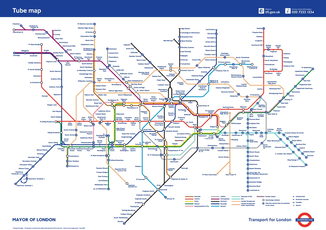 Edward Tufte Forum: London Underground Maps (+ Worldwide Subway Maps) Pertaining To Most Up To Date Tube Map Wall Art (View 18 of 20)