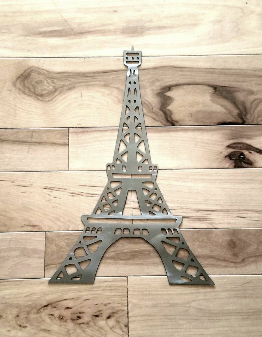 Eiffel Tower Metal Wall Art/paris Decor/eiffel Tower Decor/paris With Regard To Best And Newest Paris Metal Wall Art (View 3 of 20)