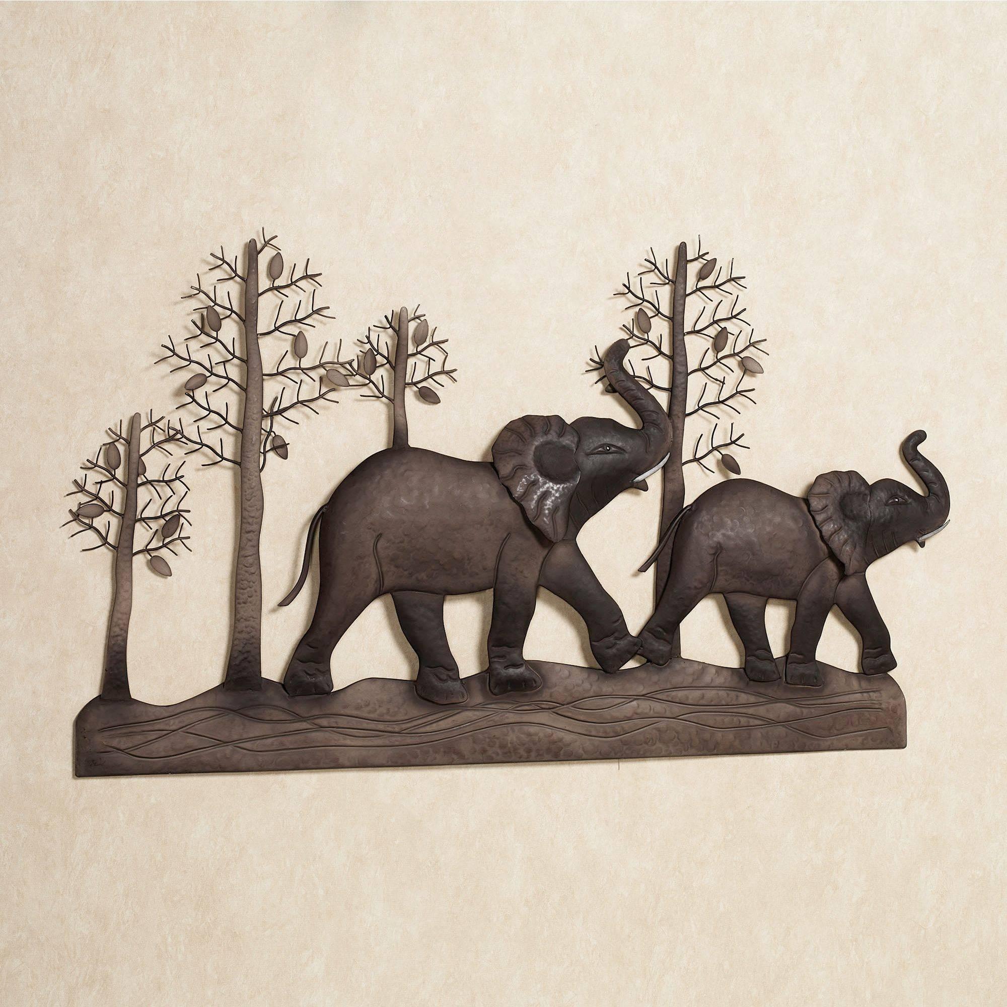Elephant Metal Wall Art For Most Popular Safari Metal Wall Art (View 4 of 20)
