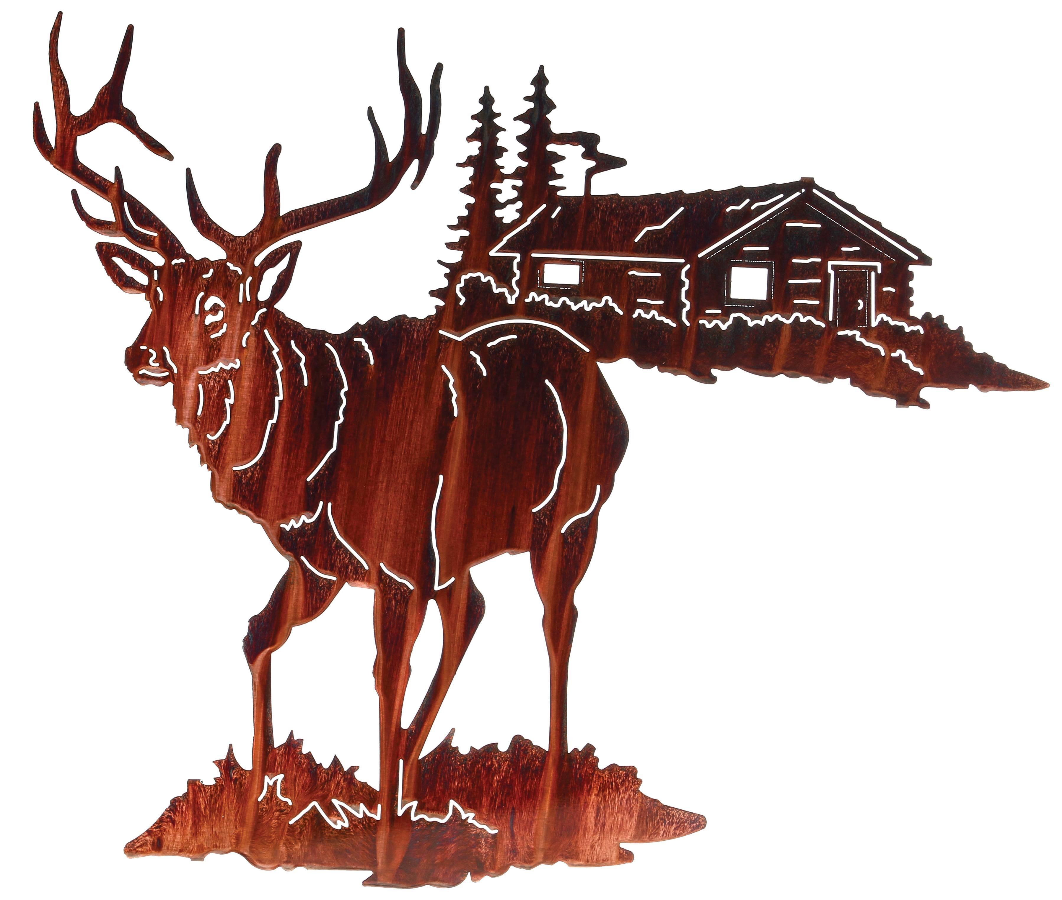 Elk Wall Art, Wall Hangings Of Elk, Elk Metal Sculptures Throughout Most Current Deer Metal Wall Art (View 9 of 20)