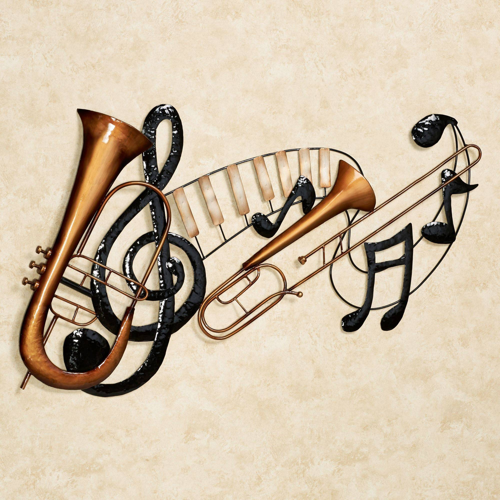 Enchanting Black Musical Notes Wall Art Musical Notes Vinyl Wall Intended For Newest Musical Instruments Metal Wall Art (View 11 of 20)