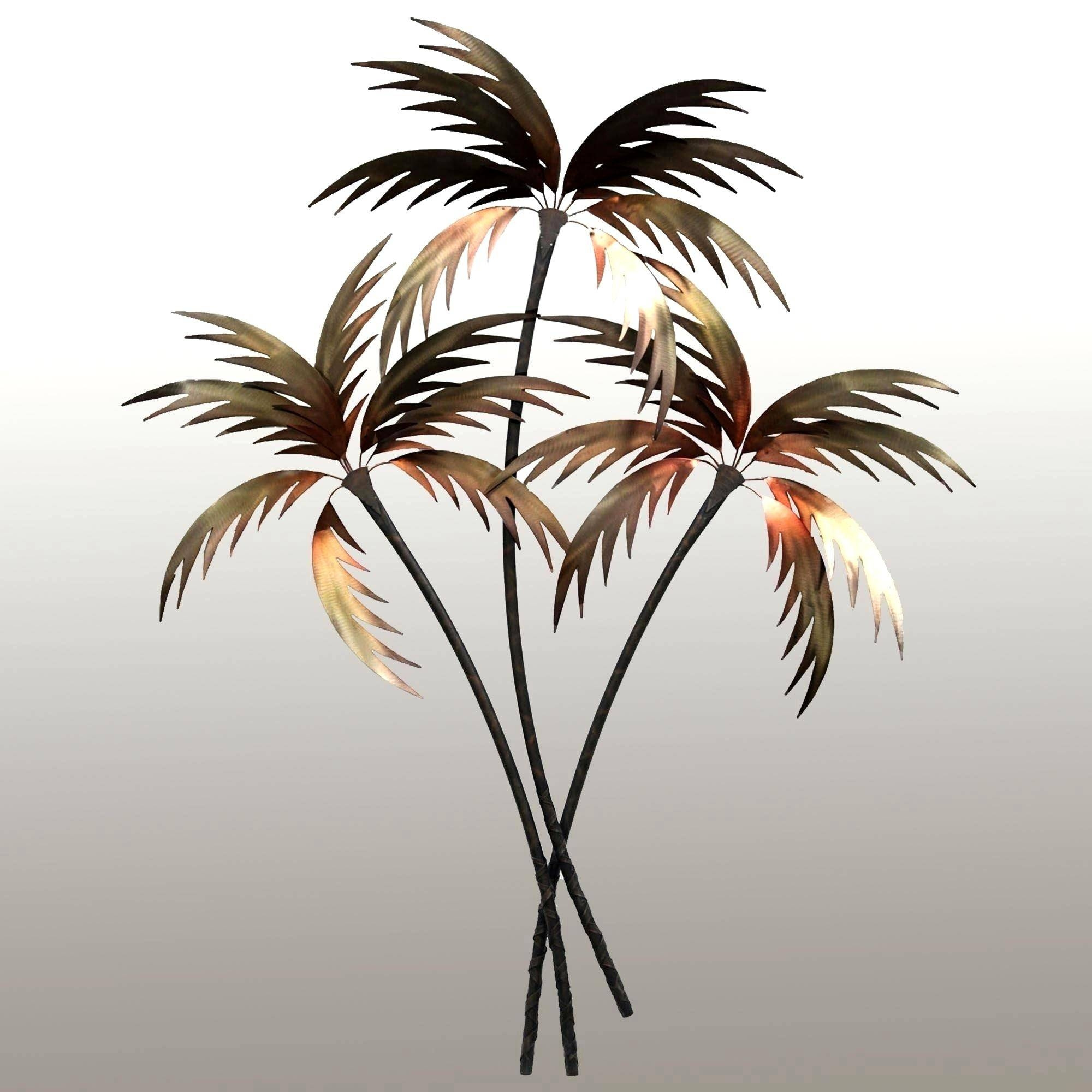 Enchanting Palm Tree Oasis Metal Wall Ideas Wall Ideas Outdoor Pertaining To Best And Newest Tropical Metal Wall Art (View 13 of 20)