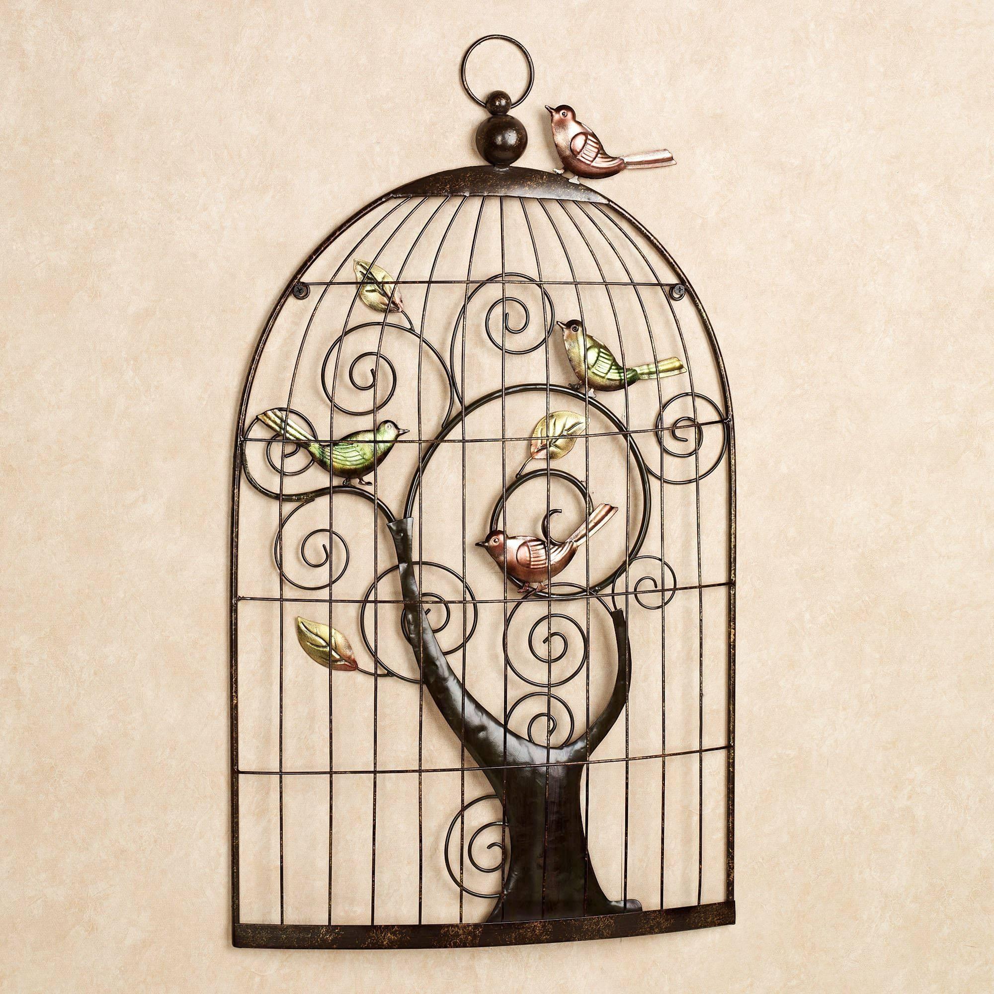 Enchanting Sonnet Birdcage Metal Wall Art In Most Recent Birdcage Metal Wall Art (View 5 of 20)