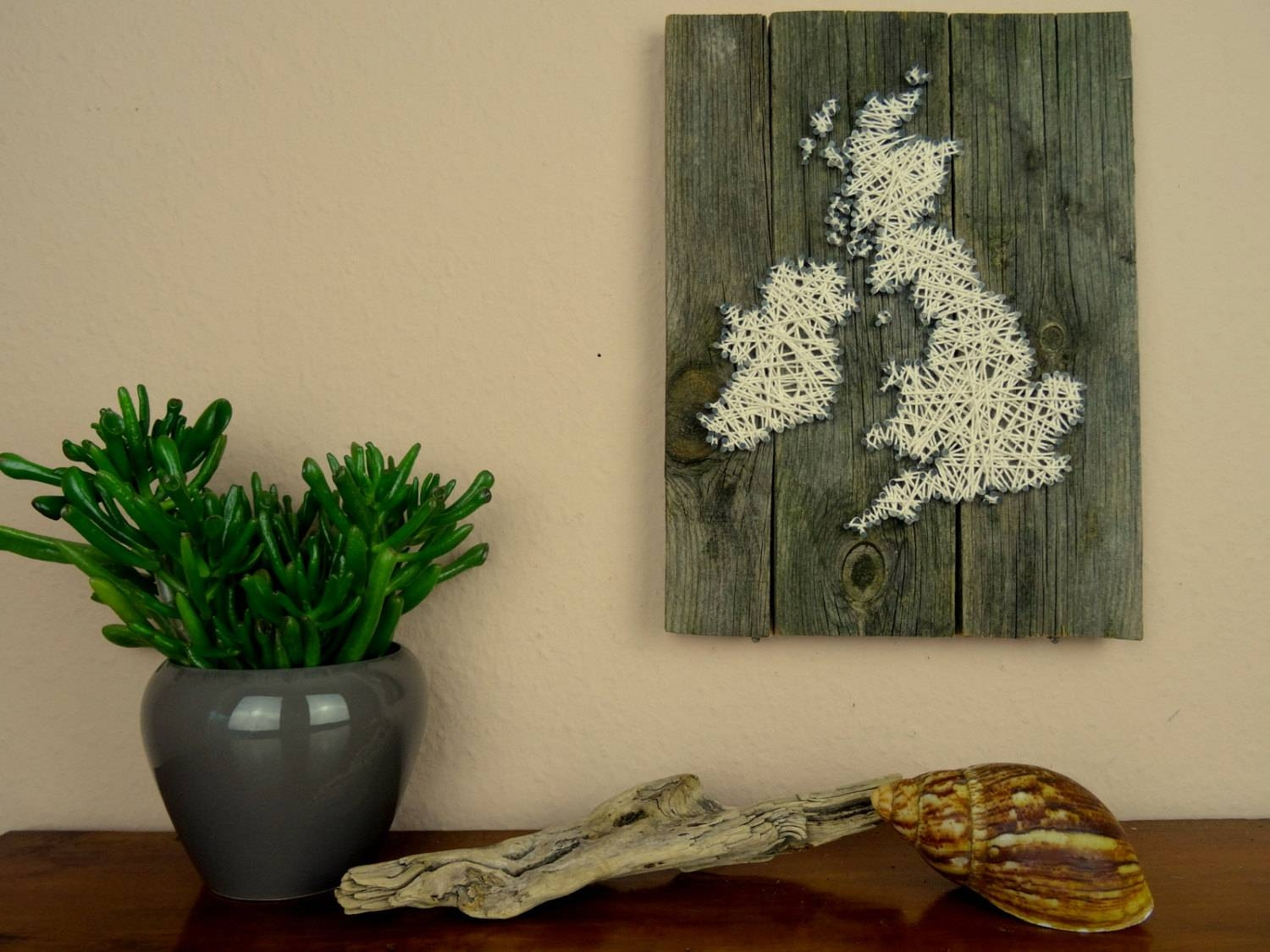England Map String Art Reclaimed Wood Wooden Wall Art For Latest String Map Wall Art (Gallery 8 of 20)