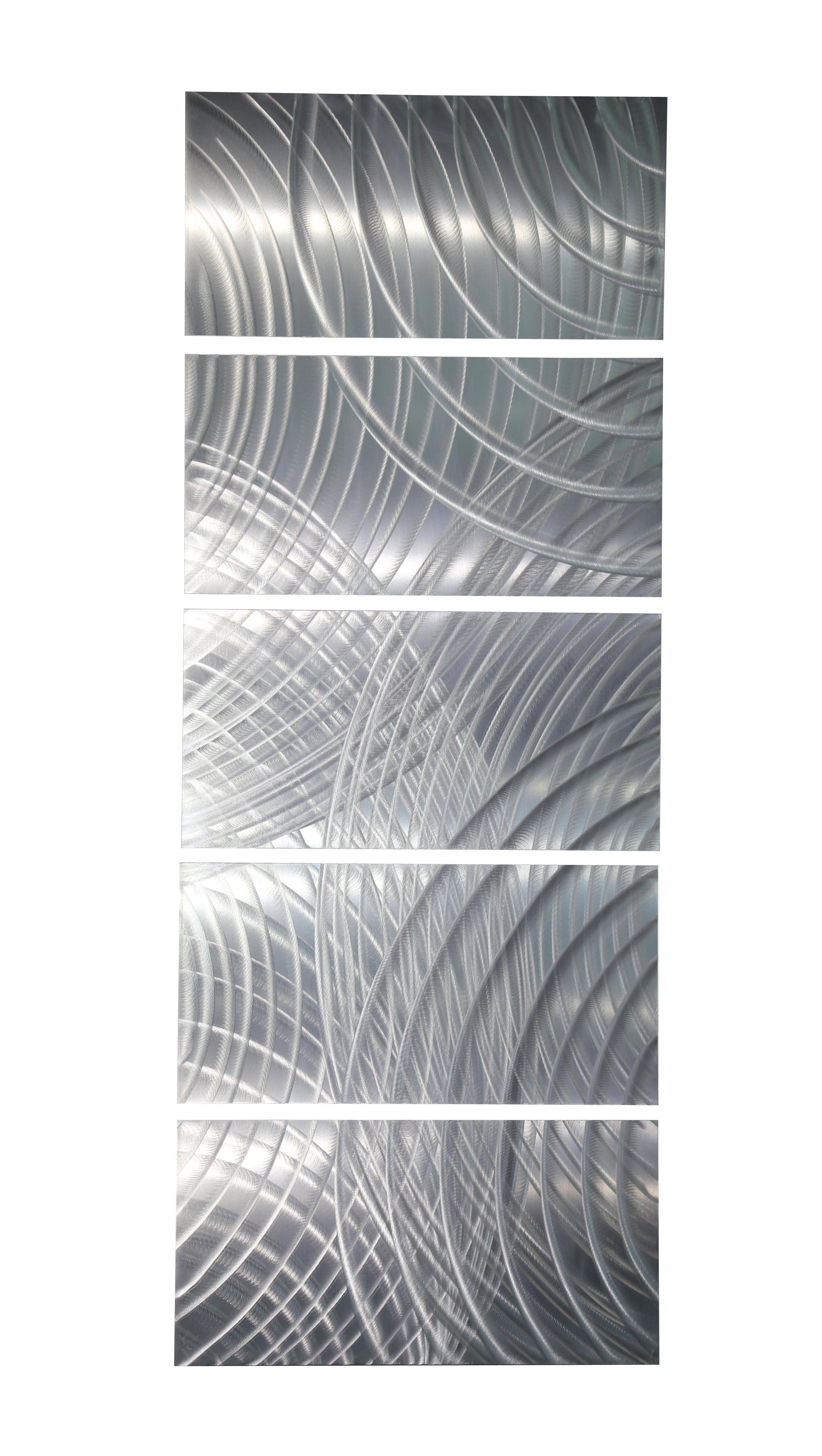 Equinox Modern And Sleek Metal Wall Art 5 Piece Etched Silver Within Most Popular Etched Metal Wall Art (View 4 of 20)