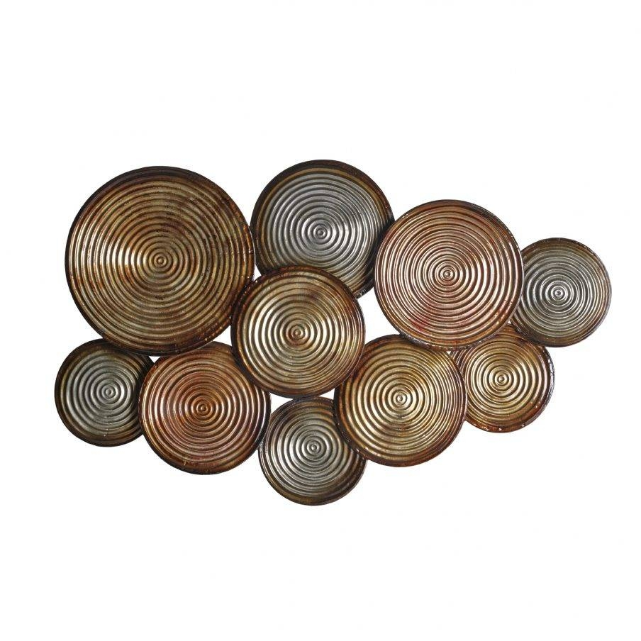 Ergonomic Circle Metal Wall Art Elements Embossed Circles Metal Throughout Most Recently Released Embossed Metal Wall Art (Gallery 16 of 20)