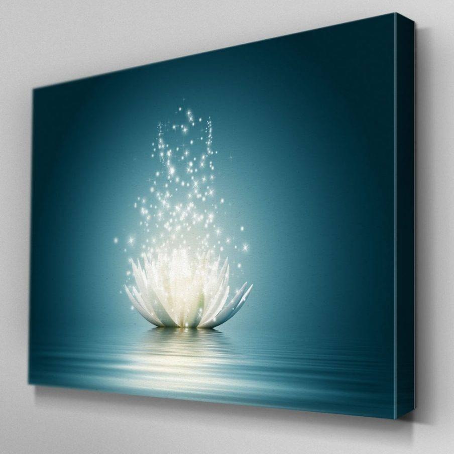 Ergonomic Contemporary Lotus Flower Wall Art Kan Thai Decor Wall With 2018 Blue Flower Metal Wall Art (View 3 of 20)