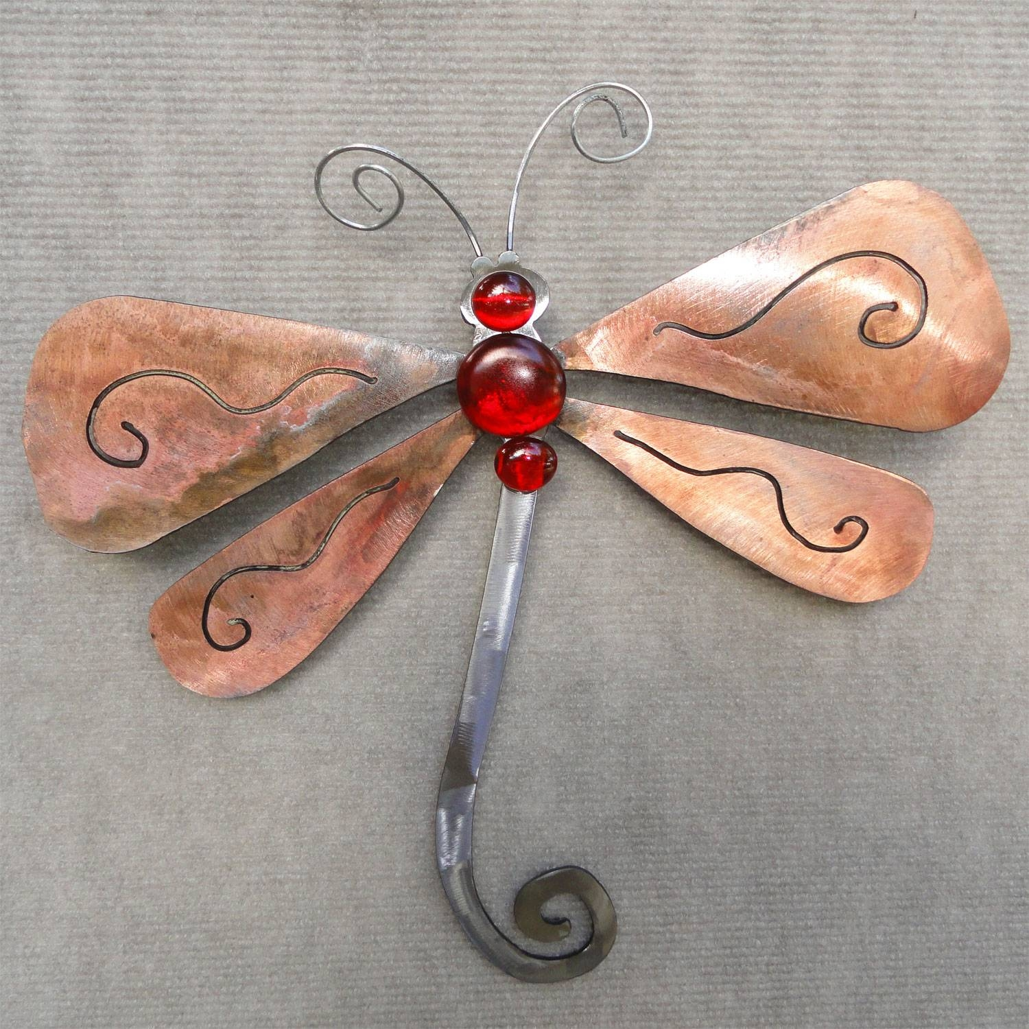 Ergonomic Dragonfly Wall Art Australia Stained Glass Dragonfly With Most Recently Released Dragonfly Metal Wall Art (View 18 of 20)