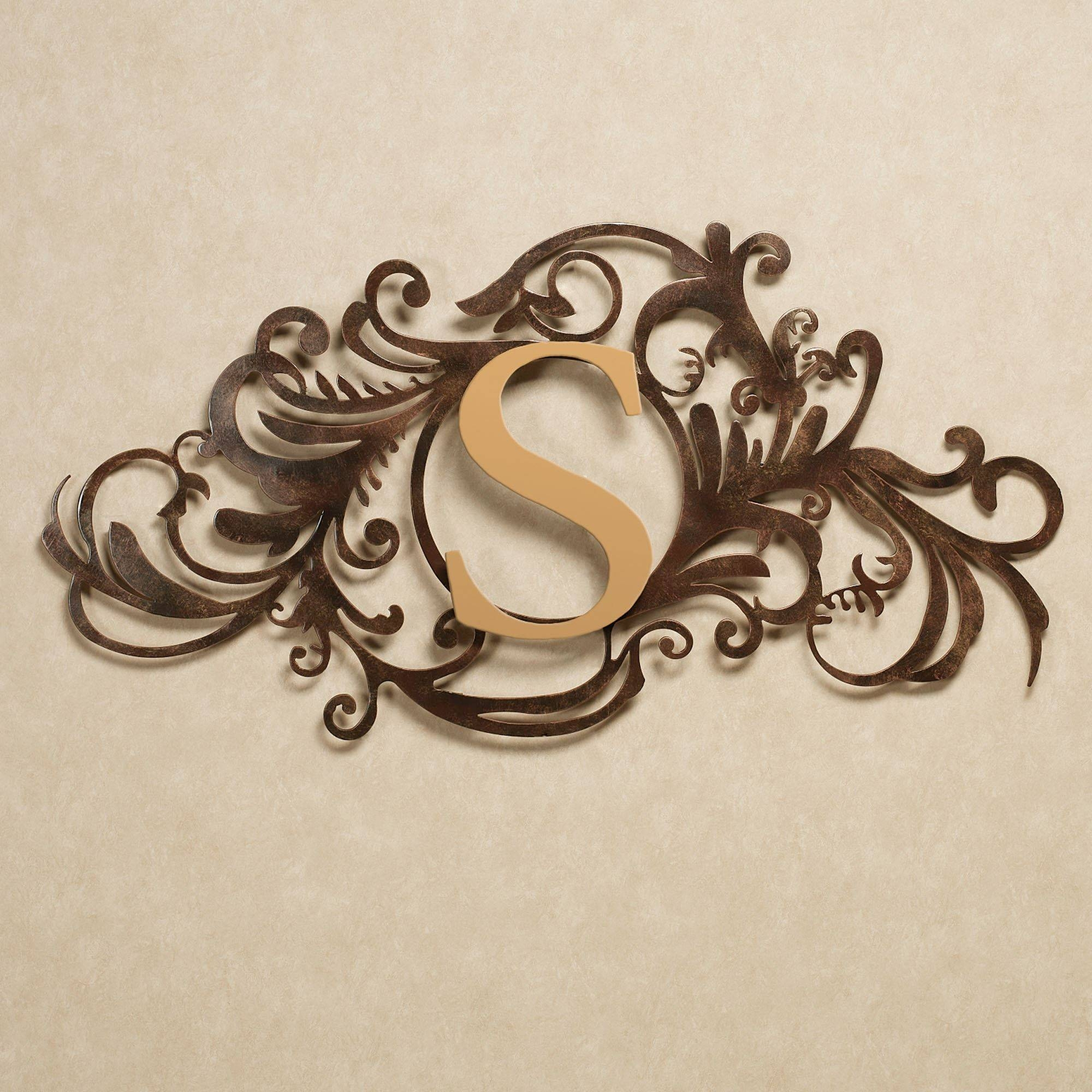 Evanston Indoor Outdoor Monogram Metal Wall Art Sign Inside Most Popular Monogram Metal Wall Art (View 6 of 20)