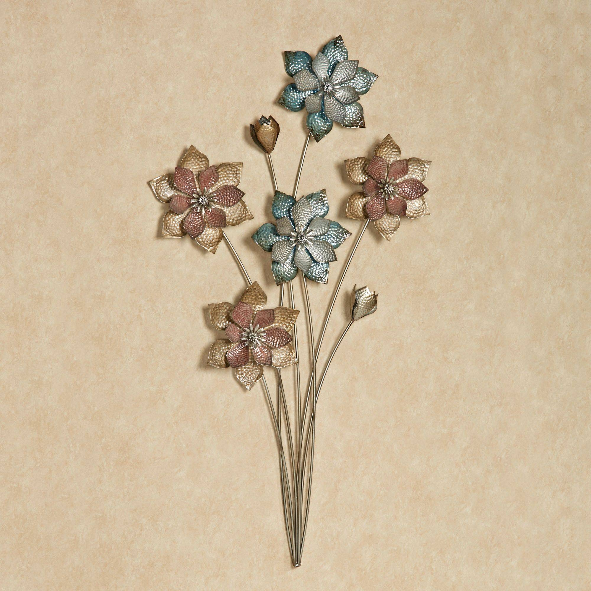 Evening Flowers Metal Wall Art In Best And Newest Flower Metal Wall Art (Gallery 17 of 20)