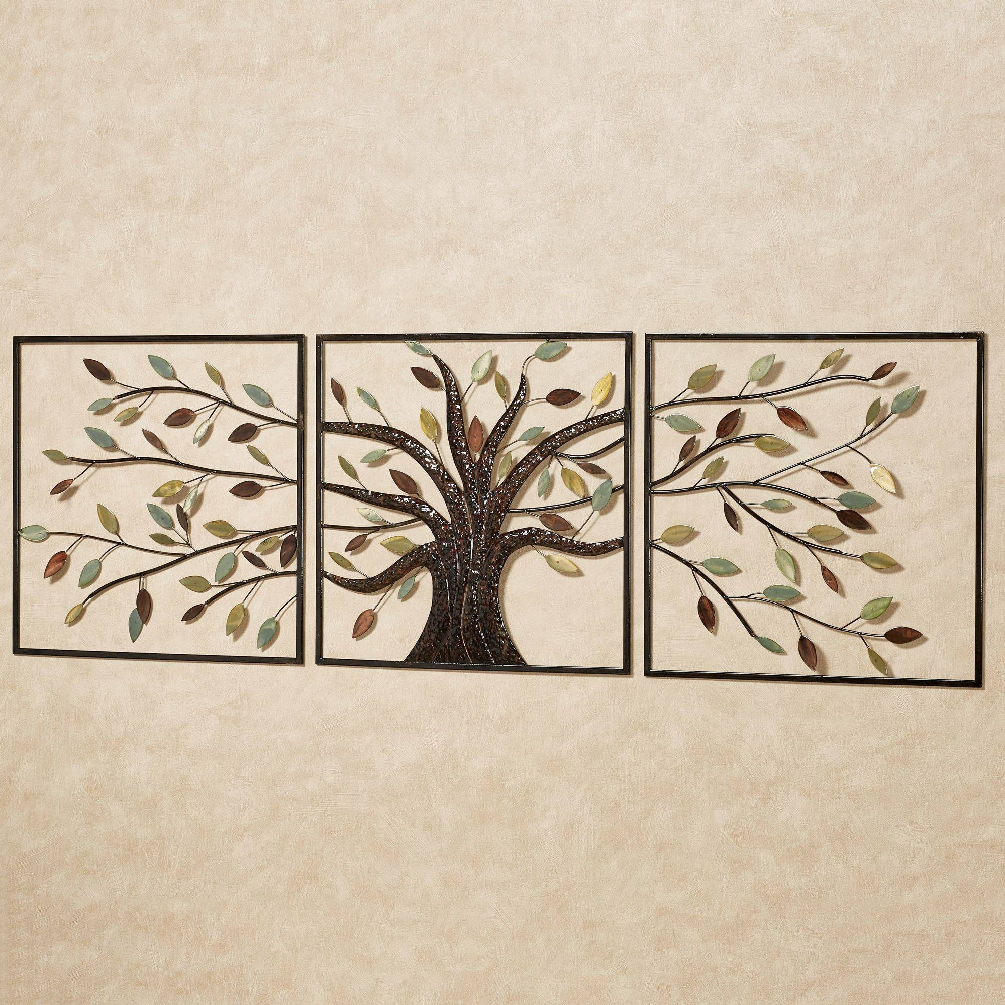 Ever Changing Brown Tree Metal Wall Art Set For Most Popular Wood Metal Wall Art (View 4 of 20)