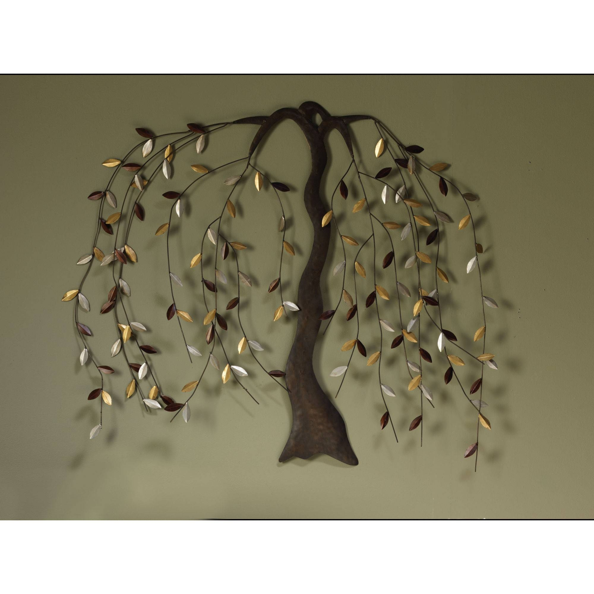 Exciting Natural Tree Of Life Metal Wall Art Decor Sculpture With Regard To 2017 Large Metal Wall Art Sculptures (View 18 of 20)