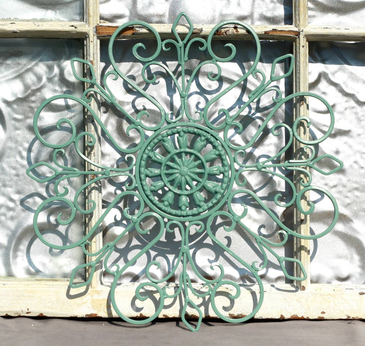 Exclusive Green Decorative Metal Wall Art Panels~ Popular Home Pertaining To Most Current Outdoor Metal Wall Art Decor And Sculptures (View 12 of 20)