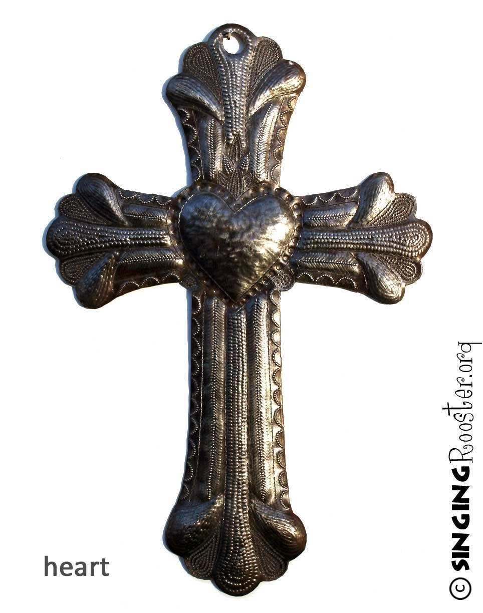 Exquisite Metal Crosses, Religious Art Handmade From Haiti Inside Most Popular Religious Metal Wall Art (View 15 of 20)
