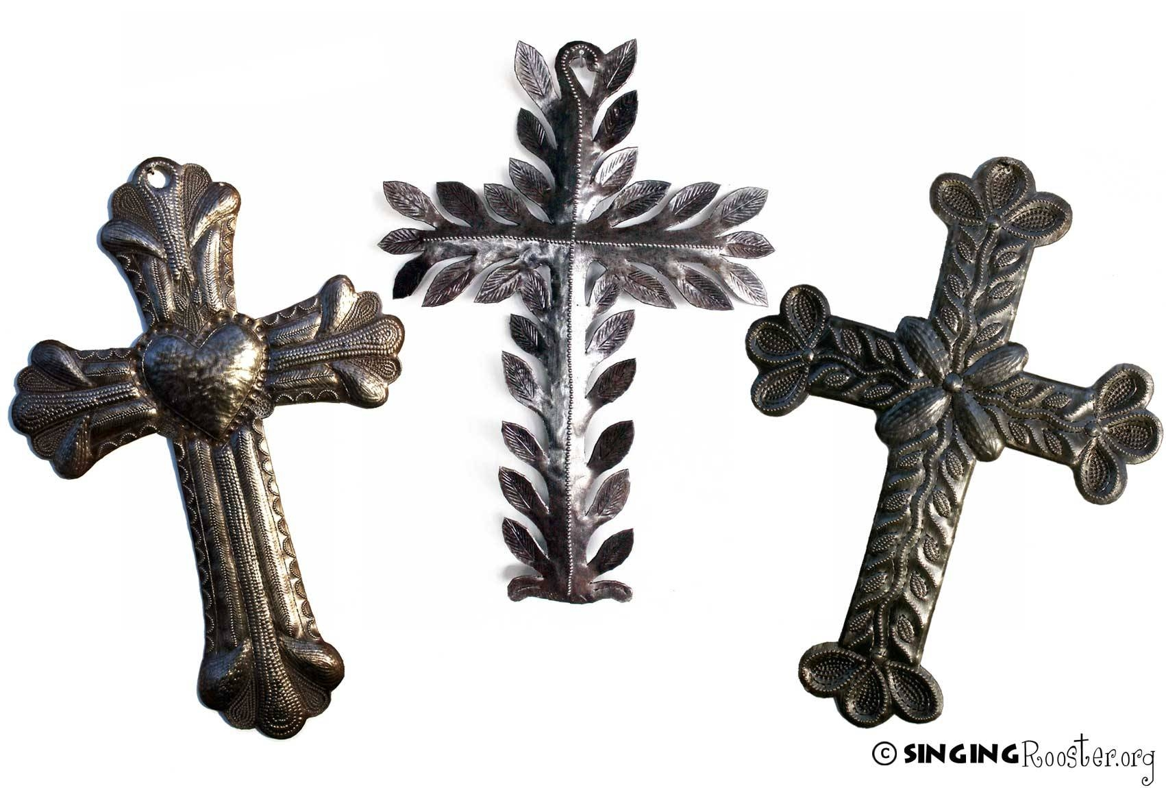 Exquisite Metal Crosses, Religious Art Handmade From Haiti With Latest Haitian Metal Wall Art (View 7 of 20)