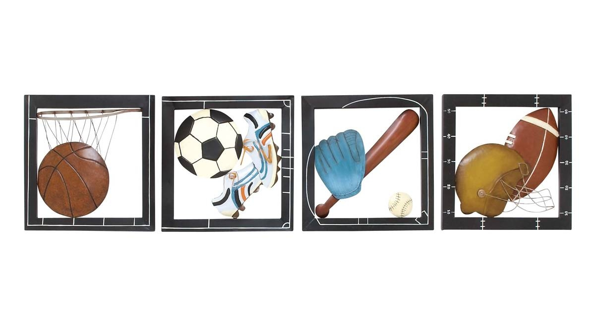 Fab Four Sports Wall Decor With Regard To 2018 Sports Metal Wall Art (View 3 of 20)