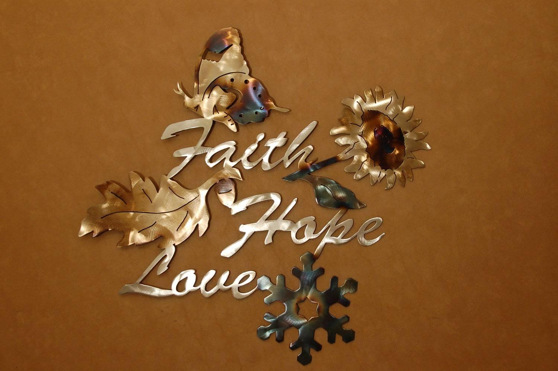 Faith Hope And Love Wall Art | Wallartideas Intended For 2018 Faith Hope Love Metal Wall Art (View 18 of 20)