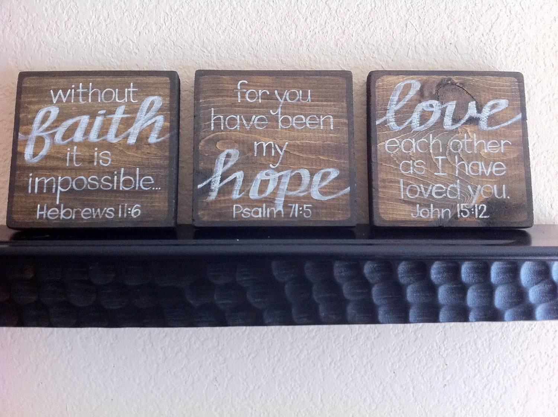 Faith Hope Love Wall Decor White Wall Rectangular Wooden Shelves Regarding Most Up To Date Faith Hope Love Metal Wall Art (View 12 of 20)
