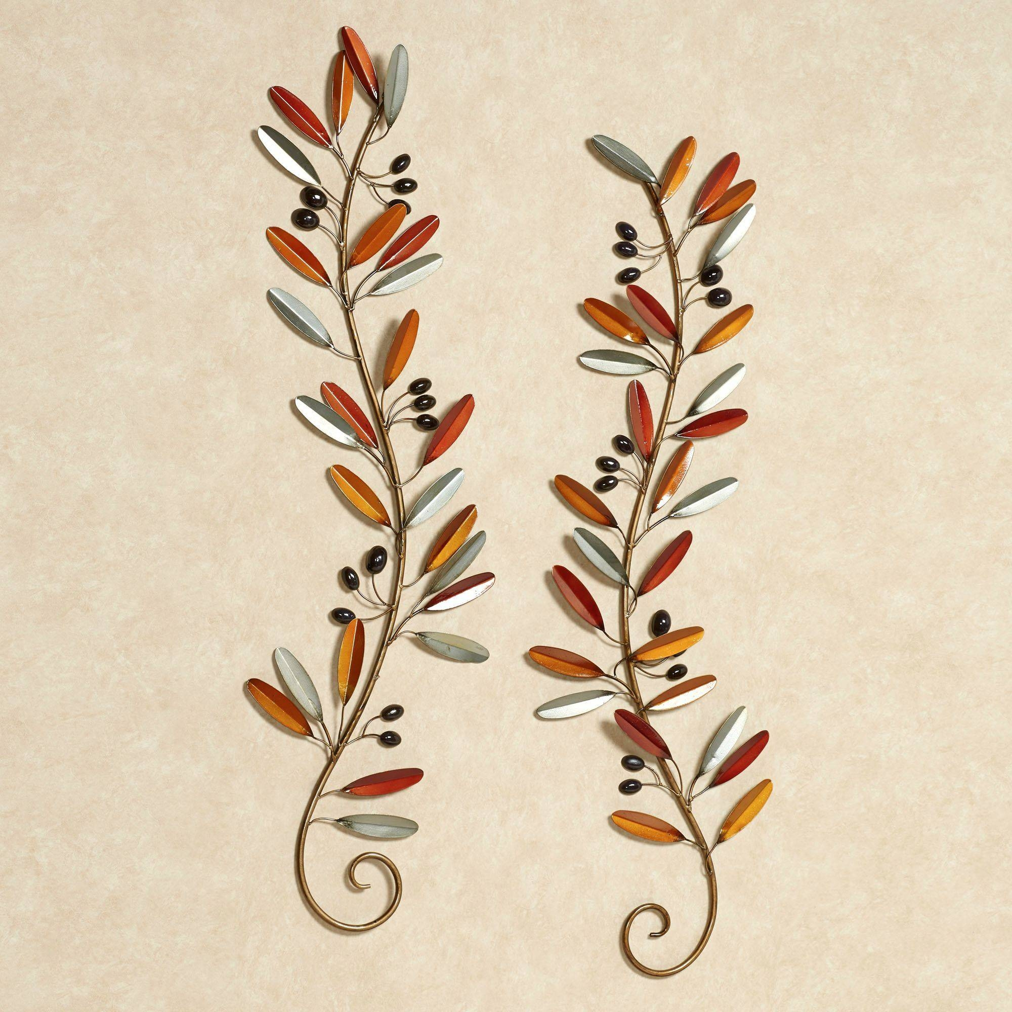 Fall Medley Leaf Branch Metal Wall Art Set Intended For Best And Newest Branches Metal Wall Art (Gallery 3 of 20)