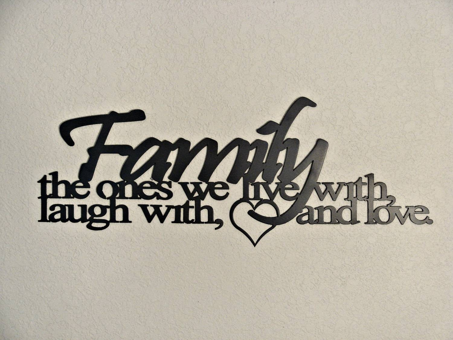 Family Ties Cnc Plasma Metal Word Art Wall Hanging Regarding Most Up To Date Family Metal Wall Art (View 5 of 20)