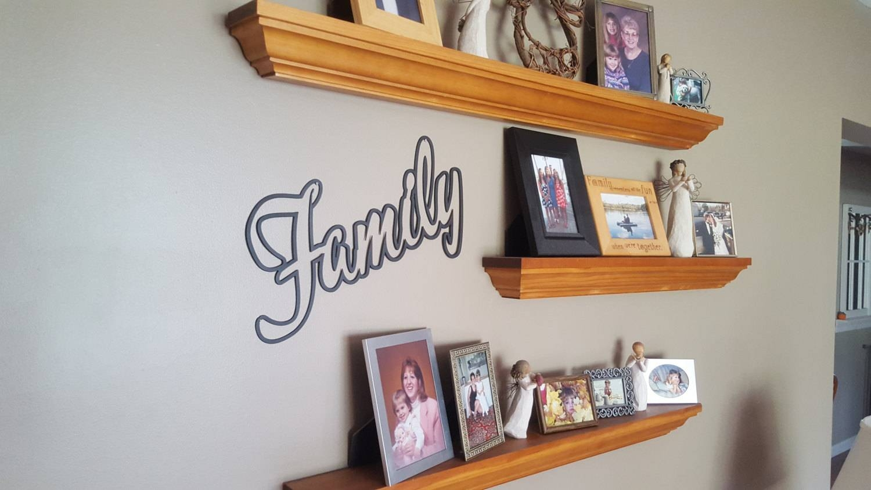 Family Word Stencil Art, Metal Art, Wall Art, Plasma Cut Metal Within Latest Plasma Cut Metal Wall Art (View 6 of 20)