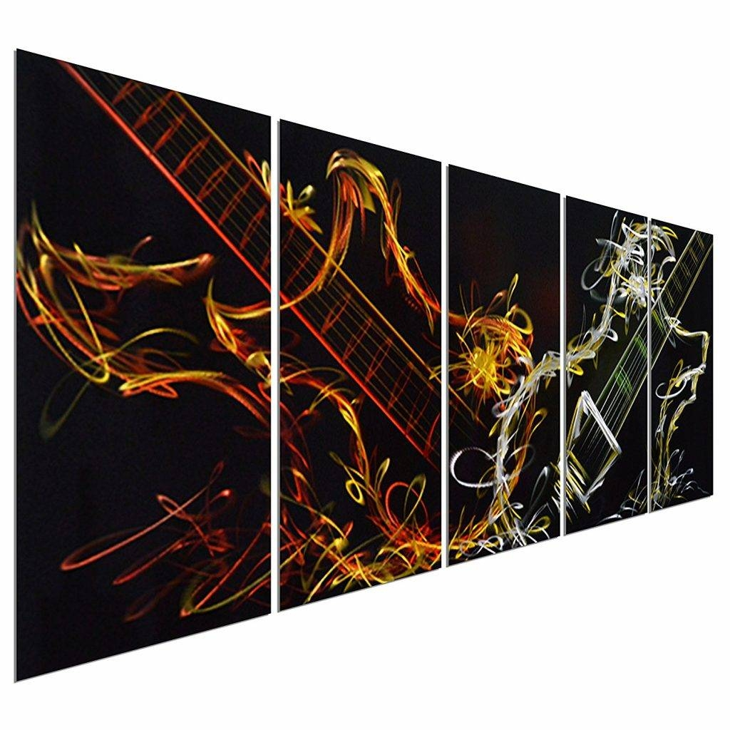 Fantastical Metal Wall Art Panels Abstract Tropical Contemporary Pertaining To Most Up To Date Tropical Metal Wall Art (View 14 of 20)