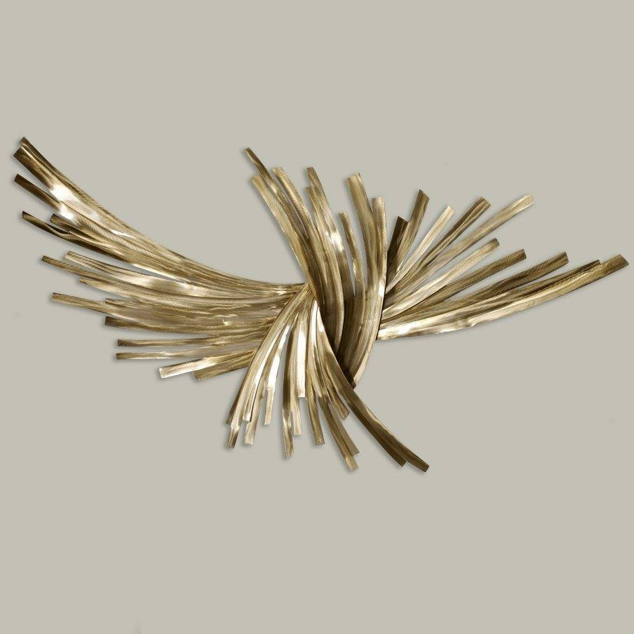 Fascinating Wall Art Metal Sculptures Uk Branches At Sunrise Leaf Pertaining To Current Vintage Metal Wall Art (View 6 of 20)