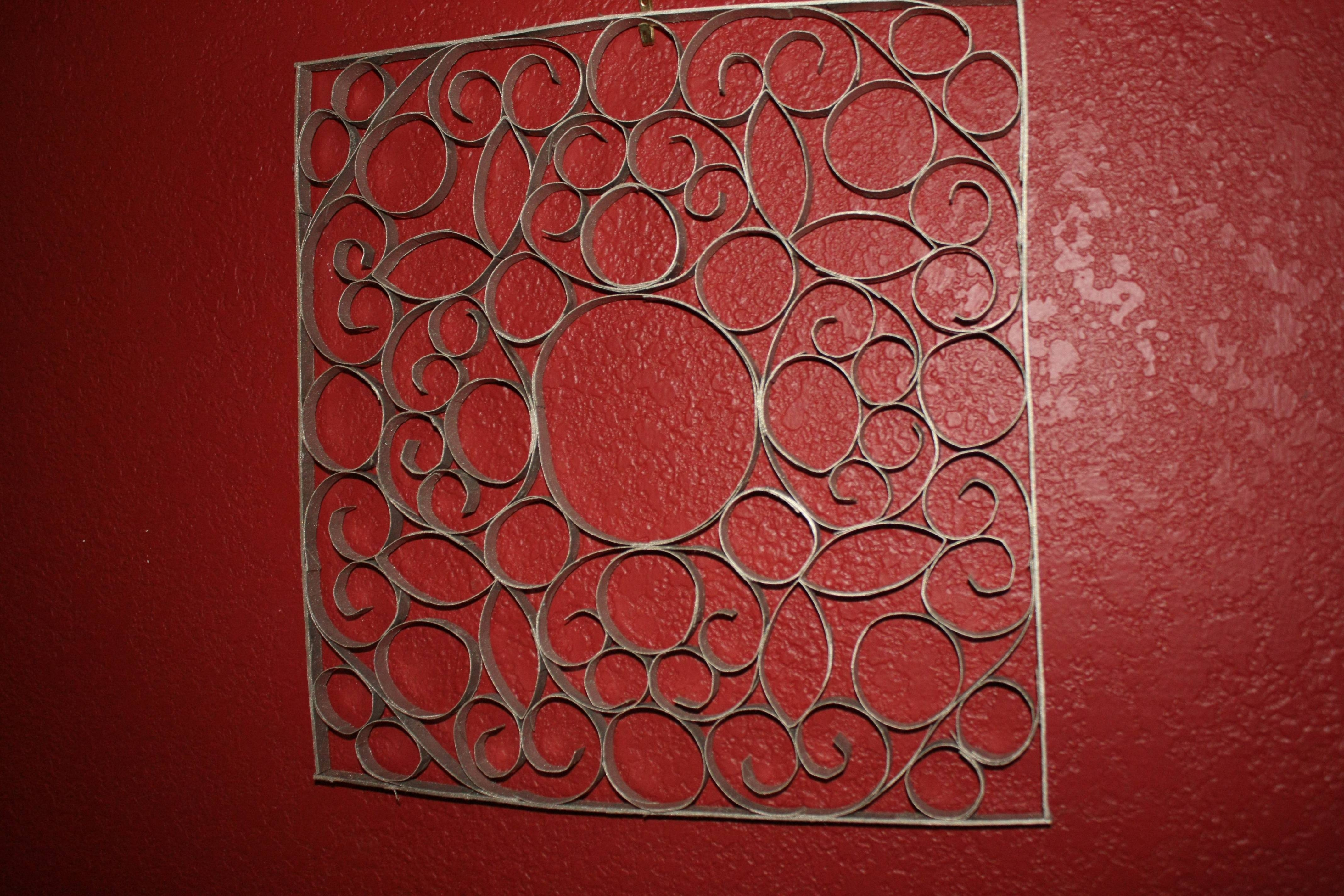 Faux Metal Wall Art | Happily A Homemaker Intended For Most Popular Faux Metal Wall Art (Gallery 20 of 20)