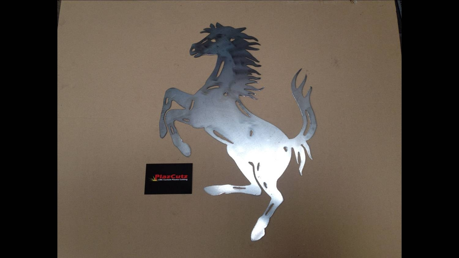 Ferrari Prancing Horse Wall Art Cnc Plasma Cut Finished In For 2018 Horses Metal Wall Art (View 2 of 20)