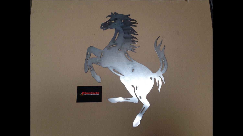 Ferrari Prancing Horse Wall Art Cnc Plasma Cut Finished In For 2018 Horses Metal Wall Art (View 16 of 20)