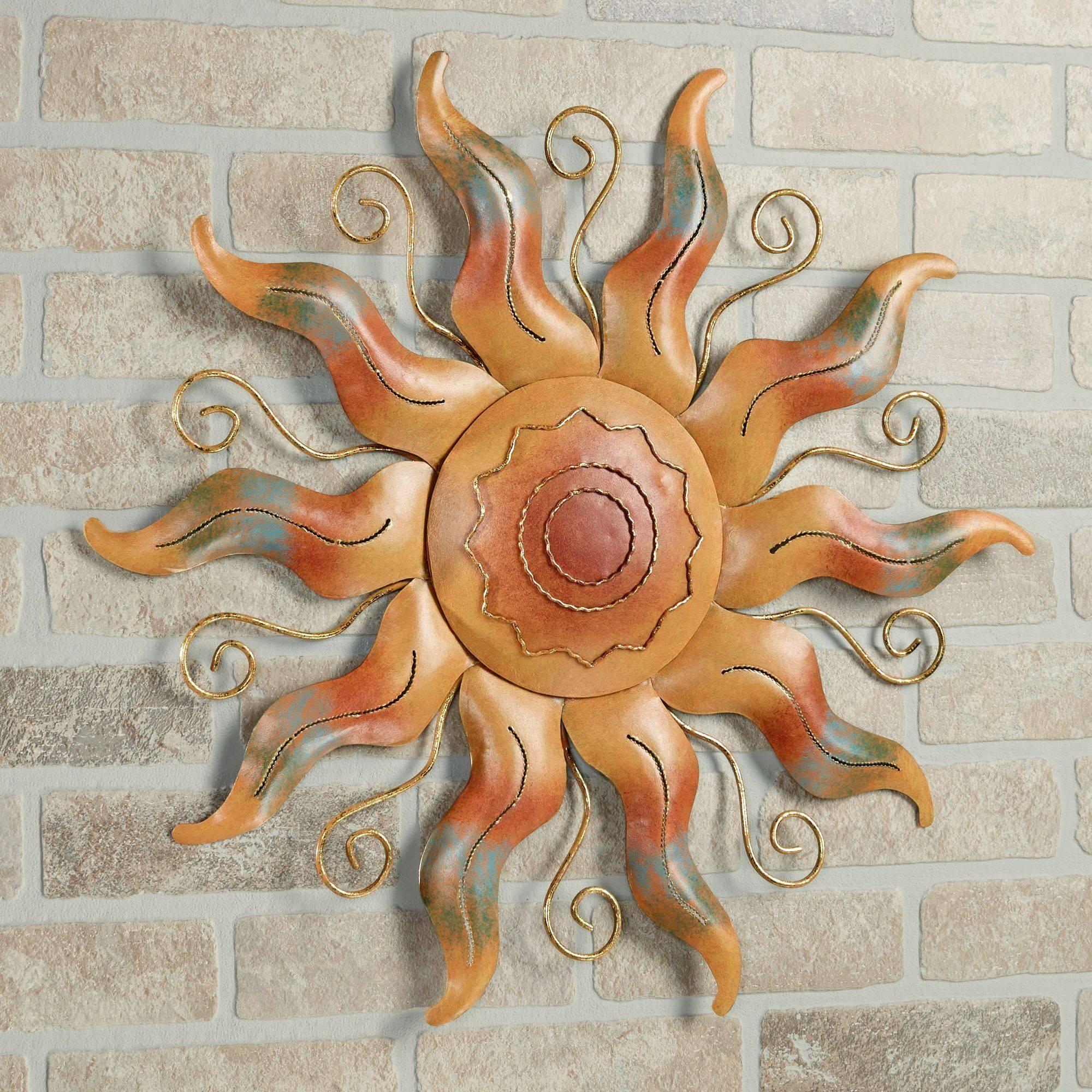 Fiesta Sun Indoor Outdoor Metal Wall Art In Most Recently Released Sun Metal Wall Art (View 18 of 20)
