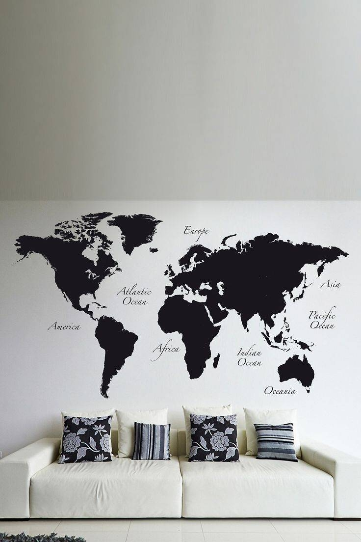 First Class World Map Wall Decor Decorative For Of Kids Metal With Regard To 2018 World Map Wall Art For Kids (View 8 of 20)