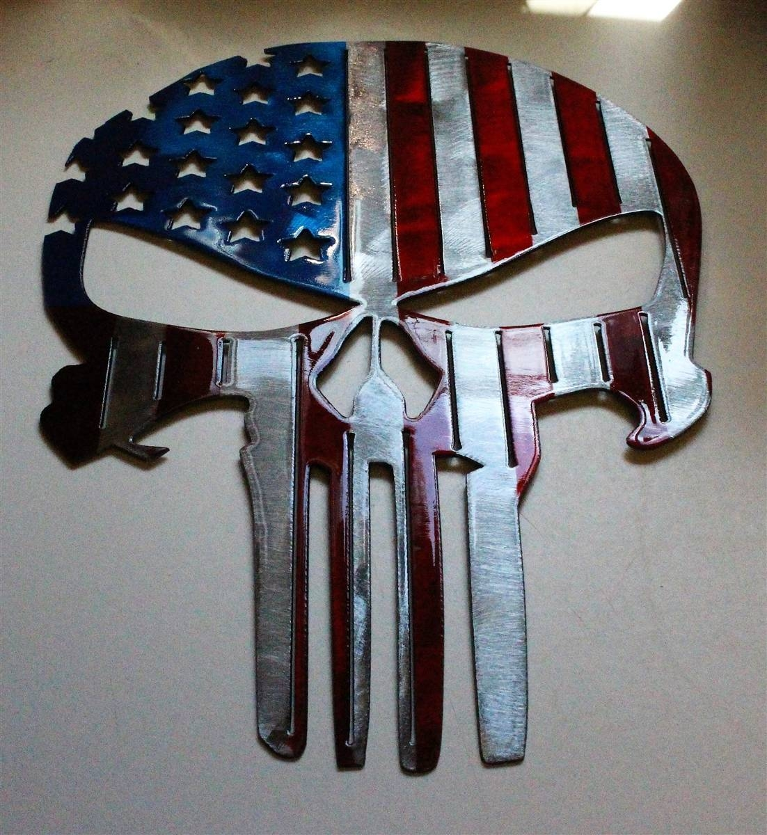 Flagpunisher 2 With Regard To 2017 Tall Metal Wall Art (View 3 of 20)