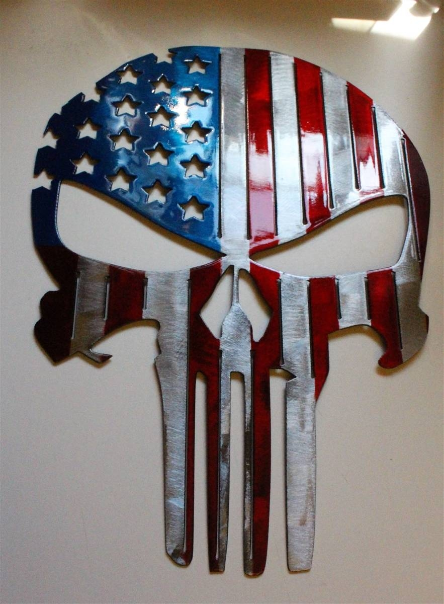 Flagpunisher 4 Inside Best And Newest American Flag Metal Wall Art (View 9 of 20)