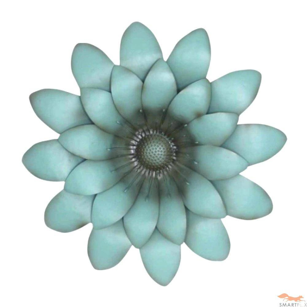 Flower Metal Wall Art Decor Blue Murals Ideas Decals Hobby Lobby Intended For Most Recent Blue Flower Metal Wall Art (View 4 of 20)