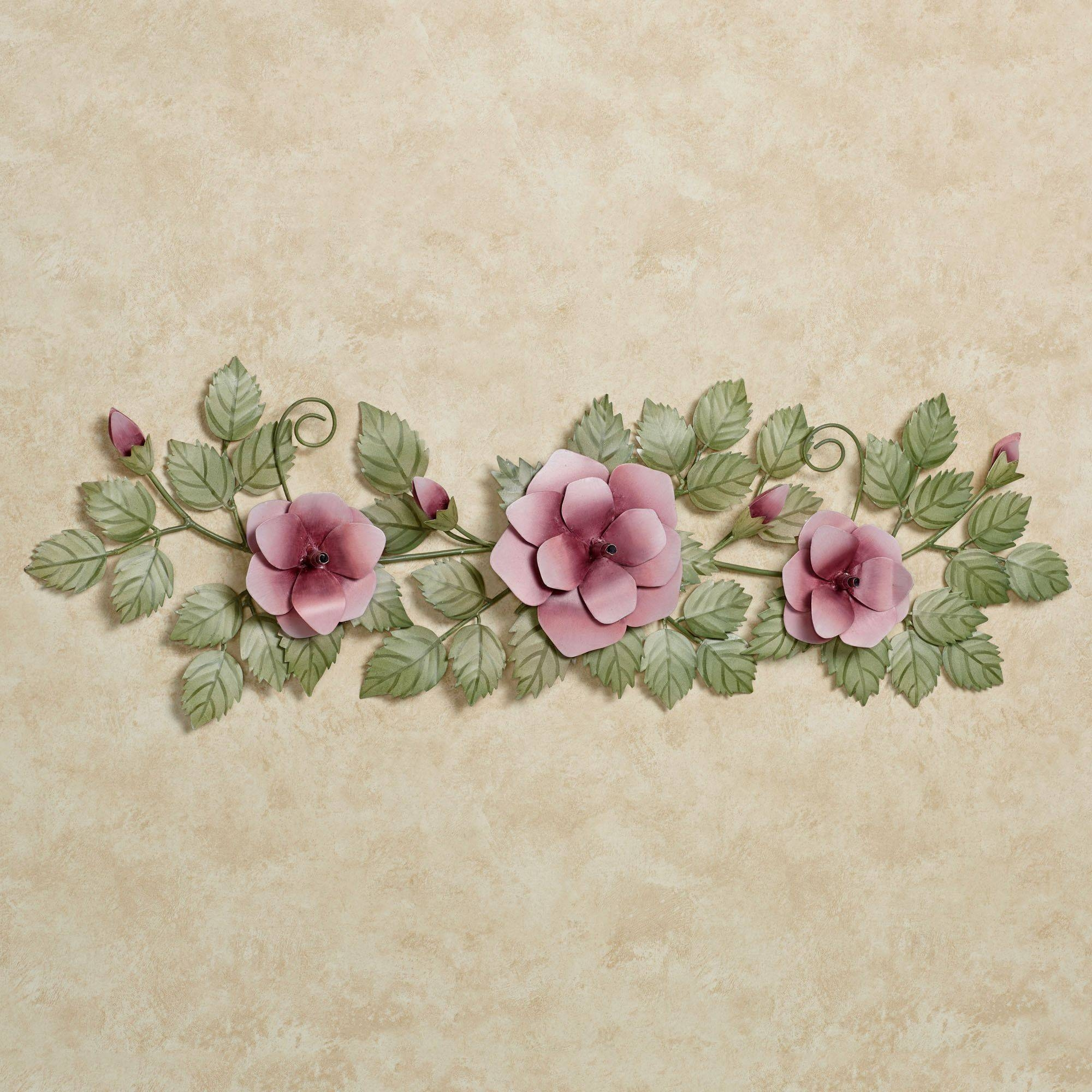 Flower Wall Art | Touch Of Class With Most Recent Pink Metal Wall Art (View 17 of 20)