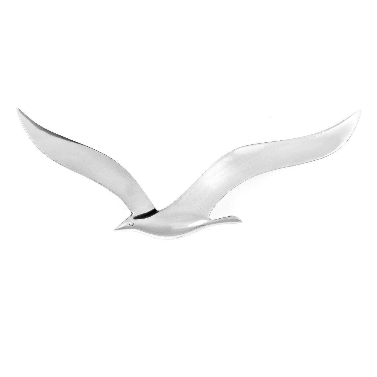 Flying Seagull Bird – Handmade Metal Wall Art Decor – Silver Intended For Most Recent Seagull Metal Wall Art (View 4 of 20)