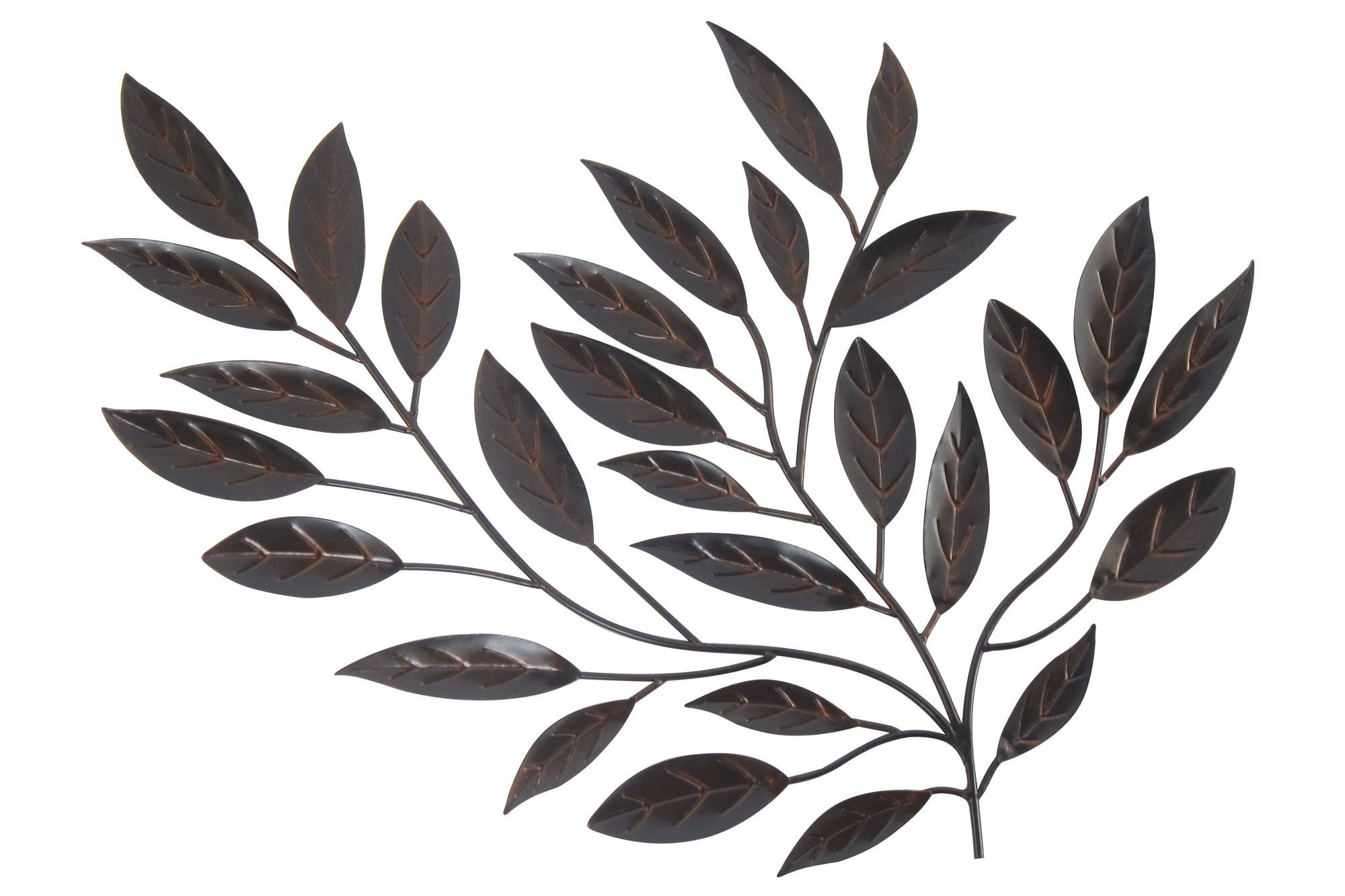 Forged Metal Leaves – Floral Metal Wall Art With Regard To Recent Leaf Metal Wall Art (Gallery 5 of 20)