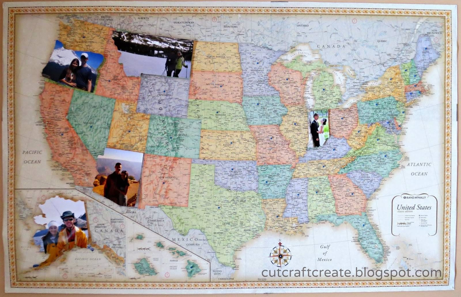 Framed And Personalized World Travel Maps With Pins (View 6 of 20)