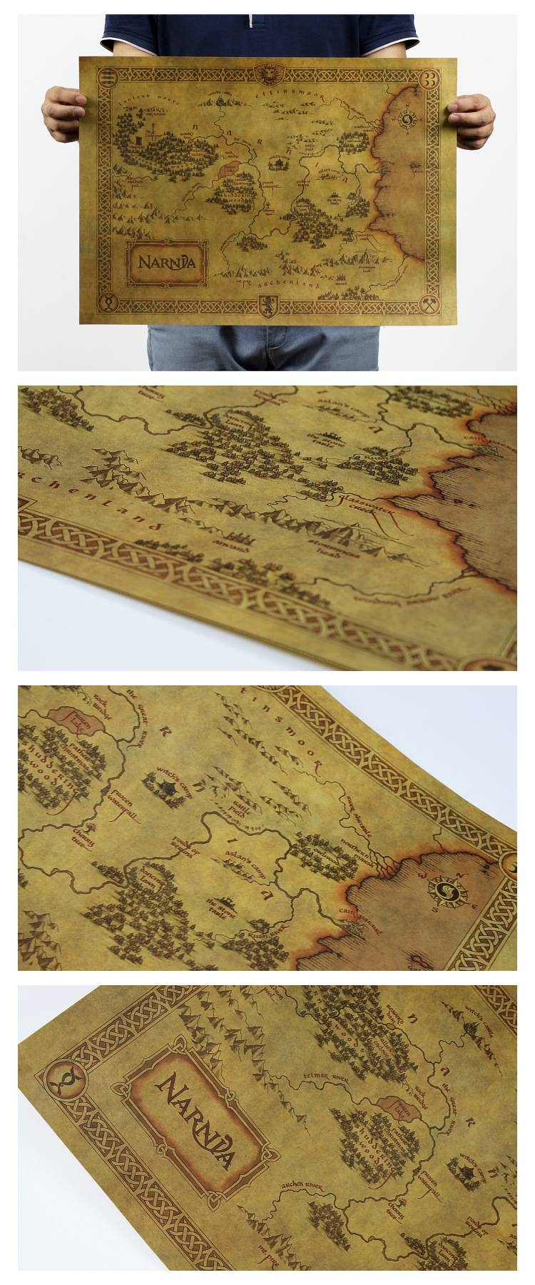 Free Shipping Vintage Poster Retro Kraft Paper Famous Film For Most Up To Date Treasure Map Wall Art (View 7 of 20)