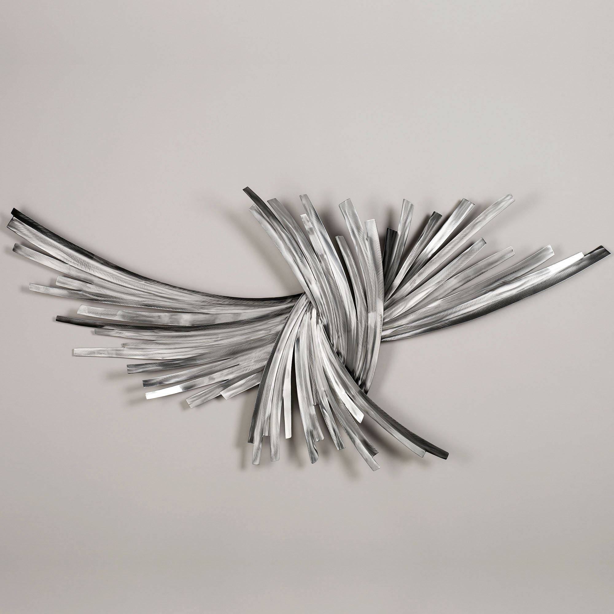 Fulgurant Wallsextra Wall Living Room Wall Art Decor Abstract In Most Recently Released Black And Silver Metal Wall Art (View 6 of 20)
