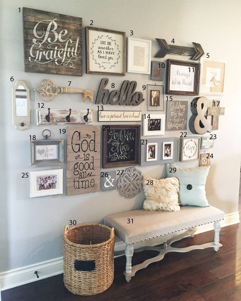 Gallery Wall Idea – Entry Way Gallery Wall – How To – Art Prints Pertaining To Most Popular As For Me And My House Metal Wall Art (View 15 of 20)