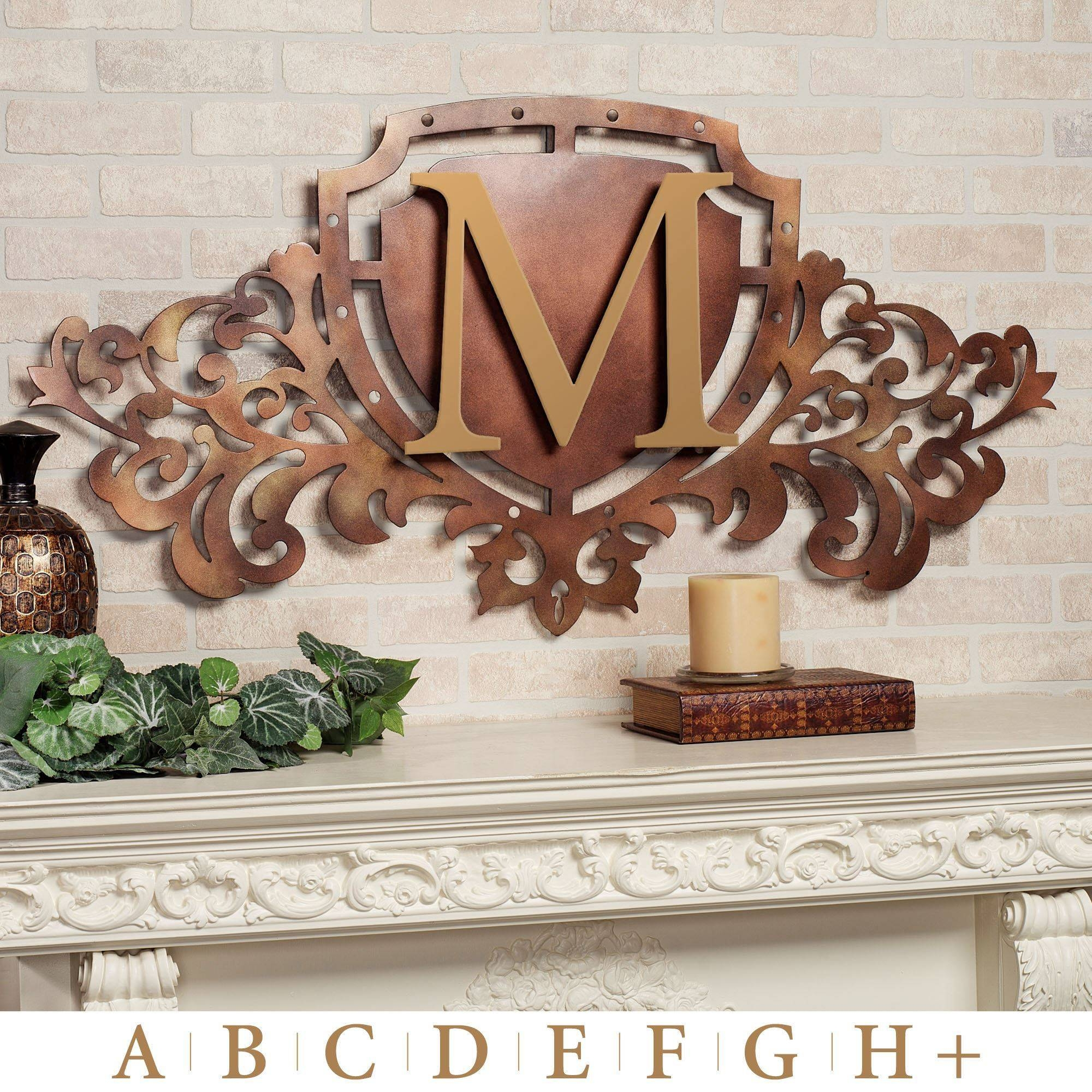 Generations Bronze Monogram Crest Metal Wall Art Sign Regarding Most Recently Released Monogram Metal Wall Art (View 9 of 20)
