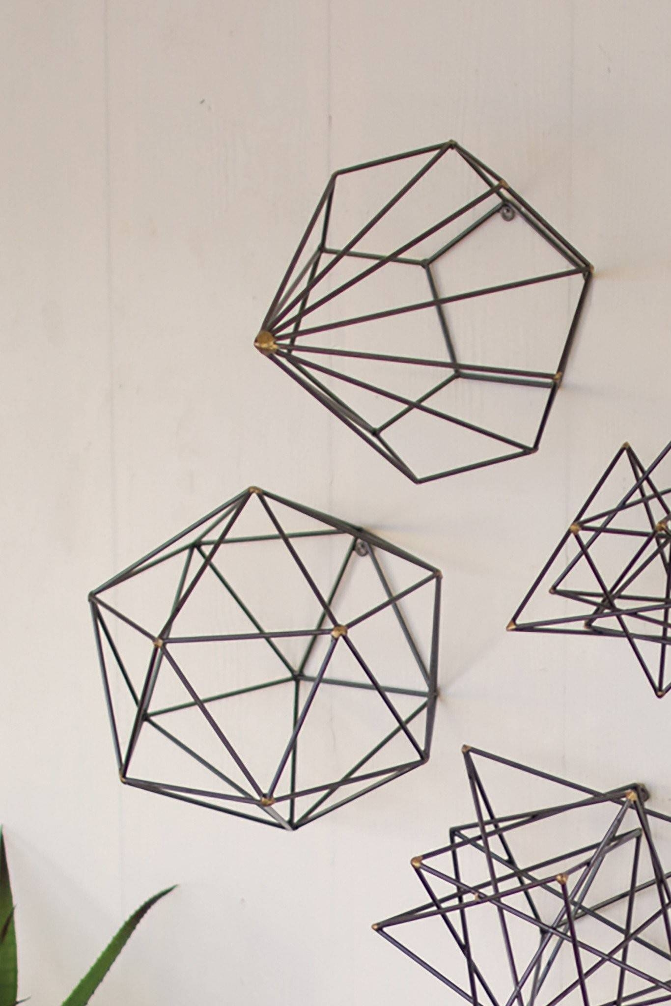 Geometric Metal Wall Art | Nana's Workshop Pertaining To Best And Newest Geometric Metal Wall Art (Gallery 2 of 20)